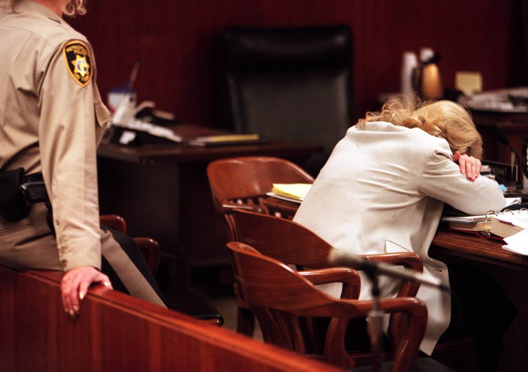 Margaret Rudin relaxes during a break in trial. (Las Vegas Review-Journal file)