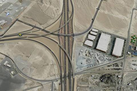 A rendering shows the planned Interstate 15-215 Beltway interchange in North Las Vegas. The Nev ...