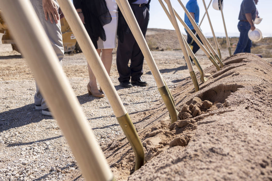 Ground is broken for Sunstone Community by Lennar, Shea Homes and Woodside Homes located in nor ...