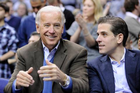 FILE - In this Jan. 30, 2010, file photo, Vice President Joe Biden, left, with his son Hunter, ...