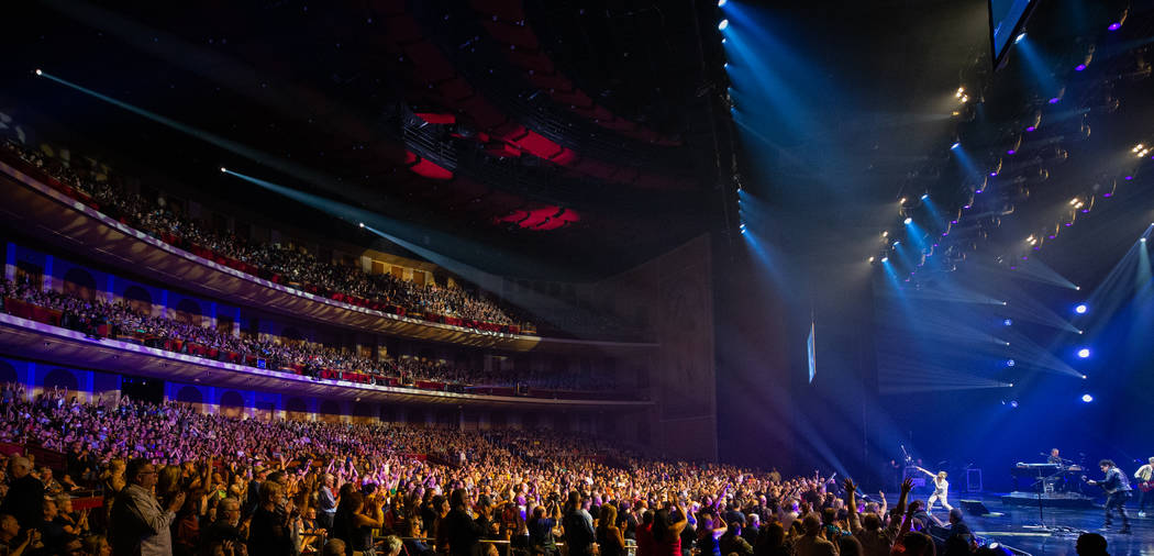 A look at the Colosseum at Caesars Palace on the opening night of Journey's residency at the ve ...
