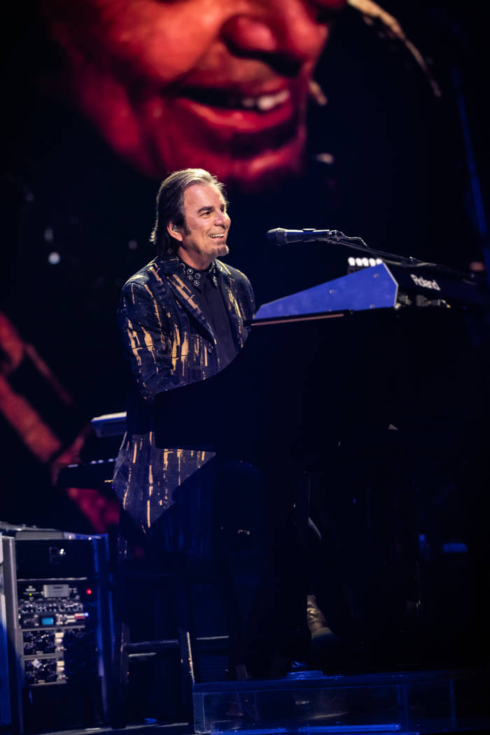 Johnathan Cain is shown on opening night of Journey's residency at the Colosseum at Caesars Pal ...