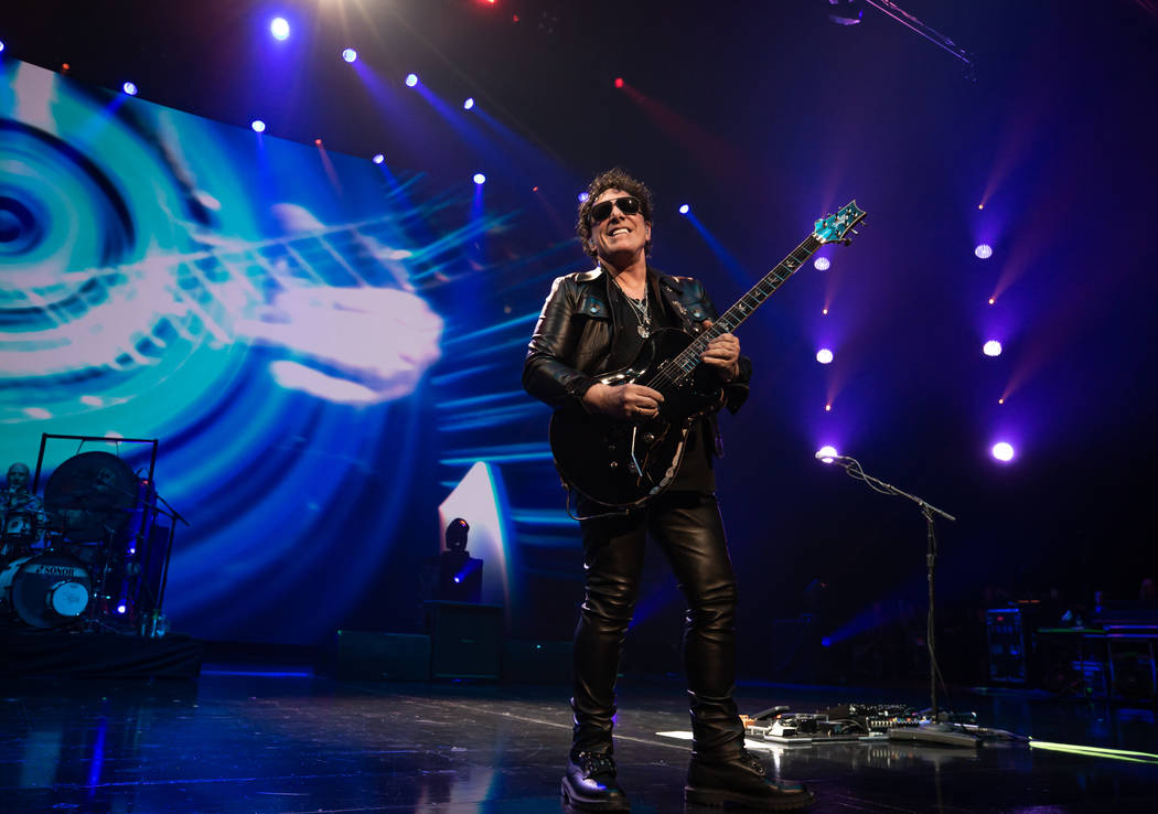 Neal Schon is shown on opening night of Journey's residency at the Colosseum at Caesars Palace ...
