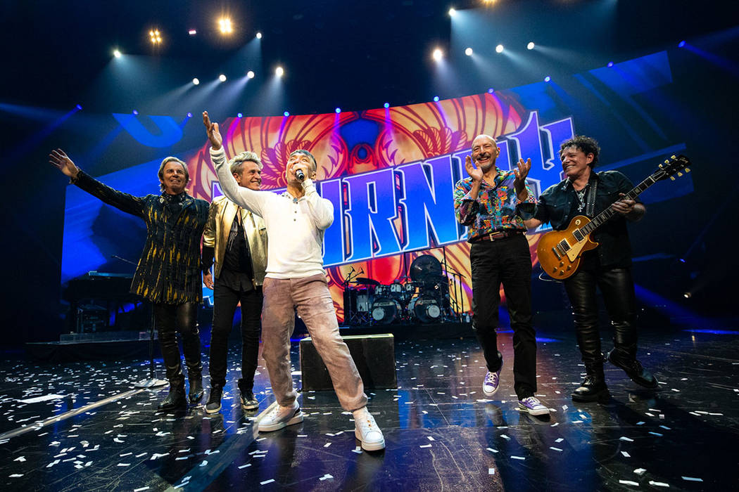 Rock and Roll Hall of Fame band Journey is shown on opening night of Journey's residency at the ...