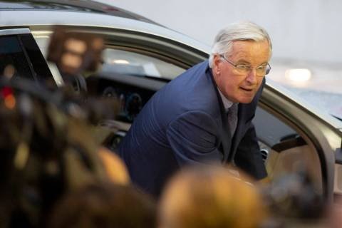 European Union chief Brexit negotiator Michel Barnier arrives for a meeting of EU General Affai ...