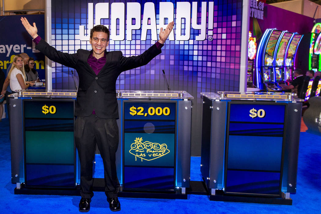 """Jeopardy!"" champion James Holzhauer on hand to play a few rounds for fun with IGT ex ..."
