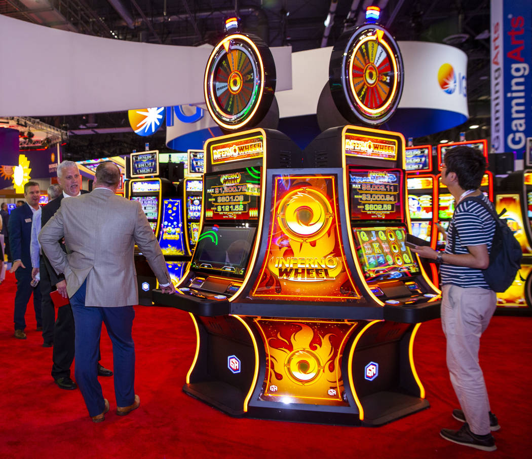 Inferno Wheel is one of the newest games on display in the Gaming Arts exhibition space during ...