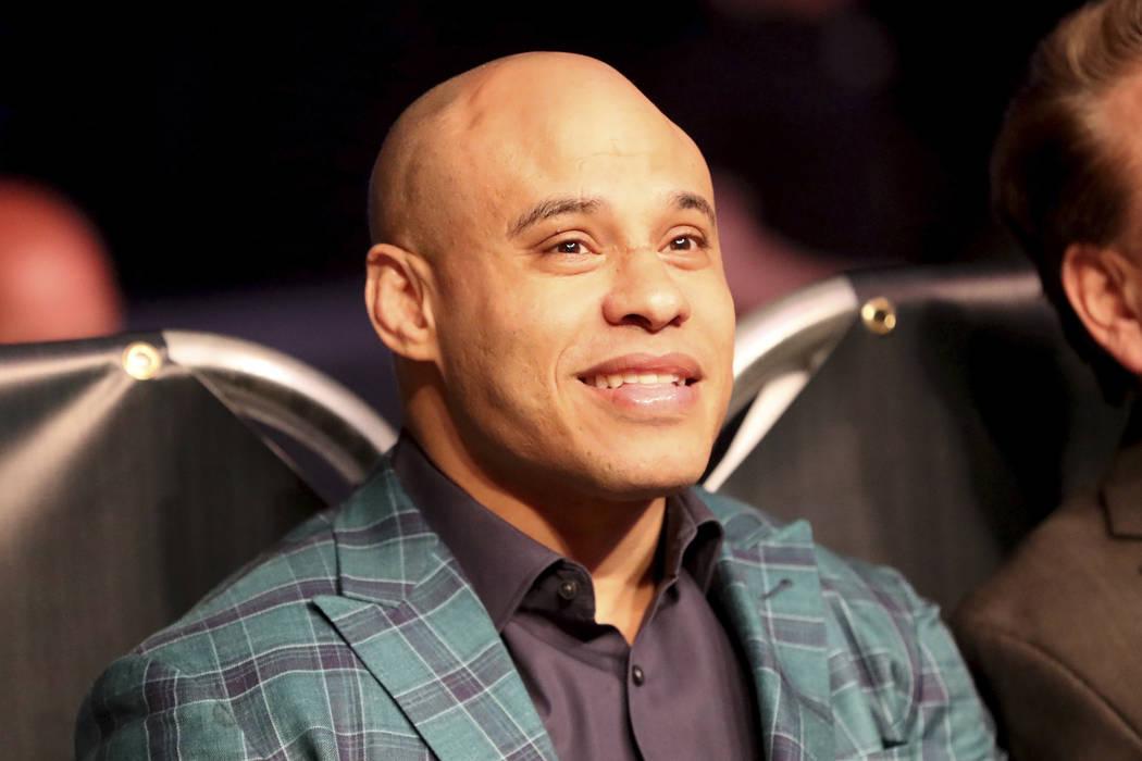 MMA Manager Ali Abdelaziz is seen at a regular season mixed martial arts bout at PFL 1, Thursda ...