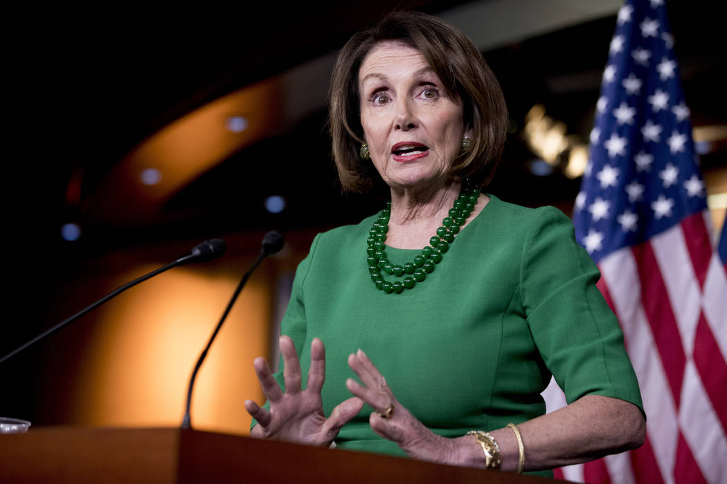 House Speaker Nancy Pelosi of Calif., speaks at a news conference on the House impeachment inqu ...