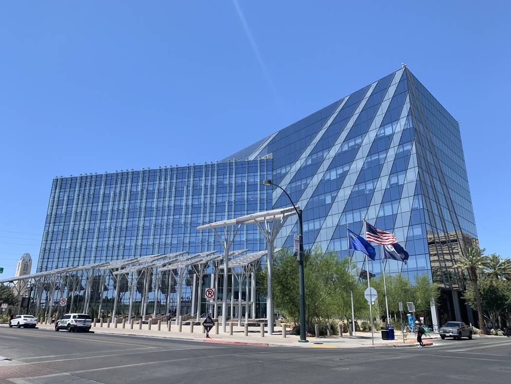 The Las Vegas City Hall pictured on July 16. (Mia Sims/Las Vegas Review-Journal) @miasims___
