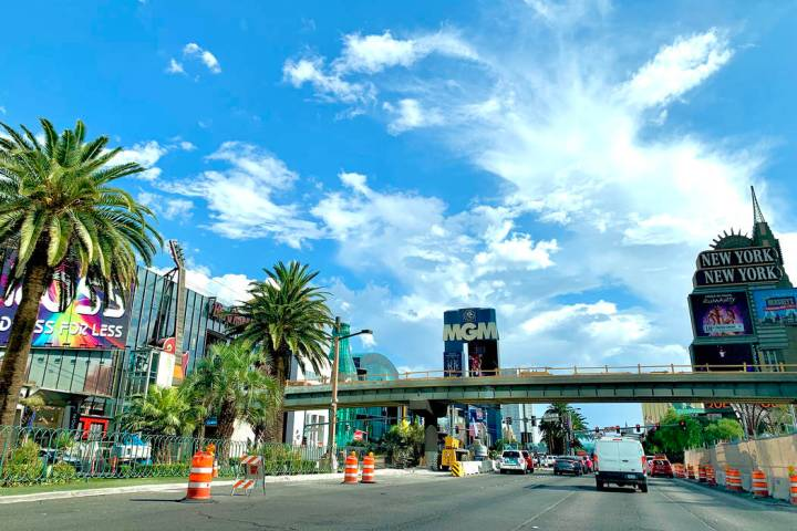 The pedestrian bridge linking Park MGM and the Showcase Mall on Las Vegas Boulevard is now expe ...