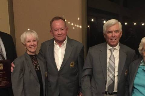 Las Vegas Golf Hall of Fame Induction was held Sept. 28 at the TPC Summerlin. From left to righ ...