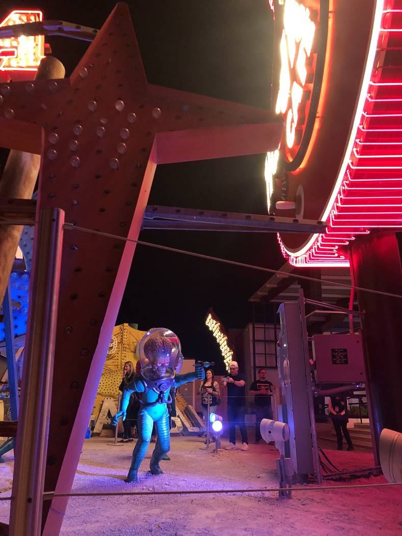"Martians from ""Mars Attacks!"" at ""Lost Vegas: Tim Burton @ The Neon Museum presented by the E ..."