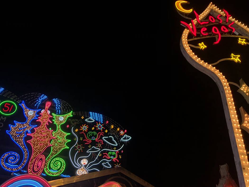 """Lost Vegas: Tim Burton @ The Neon Museum presented by the Engelstad Foundation."" (Janna Ka ..."