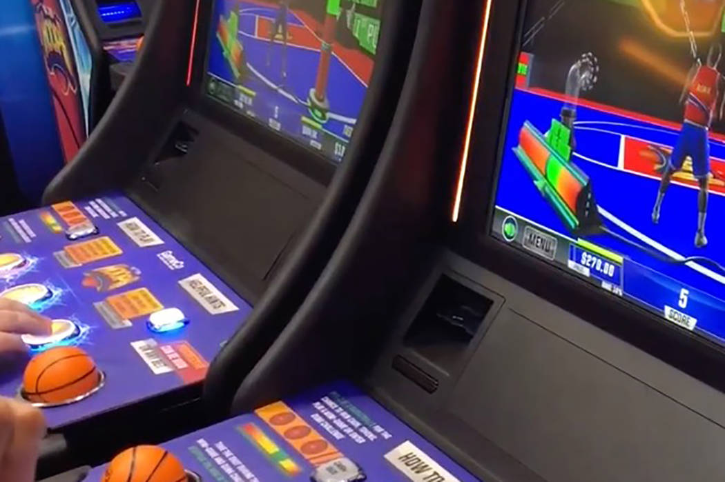 GameCo's All Star Hoops game on the floor at the 2019 Global Gaming Expo at the Sands Expo and ...