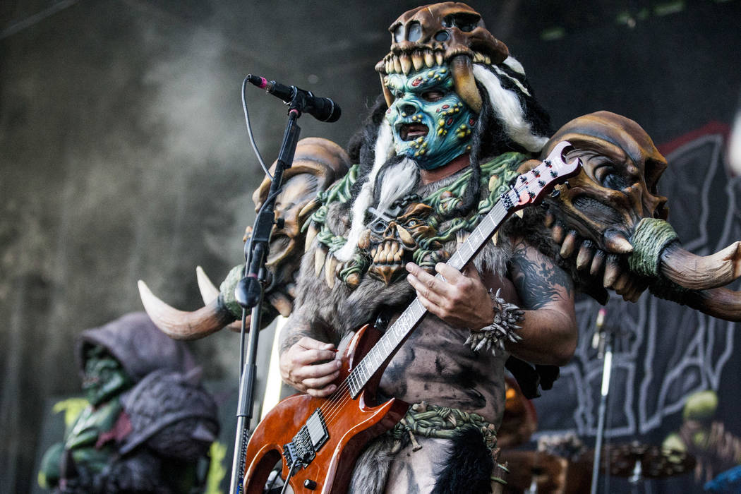 Brent Purgason (Pustulus Maximus) of GWAR performs at Vans Warped Tour at the Hard Rock Hotel a ...