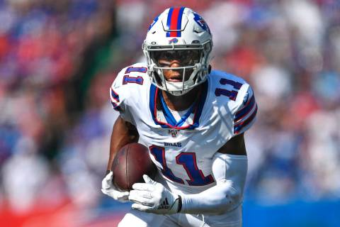 Buffalo Bills' Zay Jones (11) during the first half of an NFL football game against the Cincinn ...