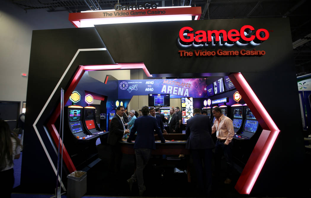 The GameCo booth at the 2019 Global Gaming Expo at the Sands Expo and Convention Center in Las ...