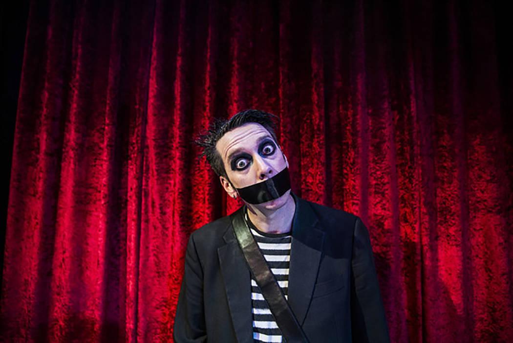 Sam Wills, aka Tape Face, in a Feb. 24, 2017, photo. (Benjamin Hager/Las Vegas Review-Journal) ...