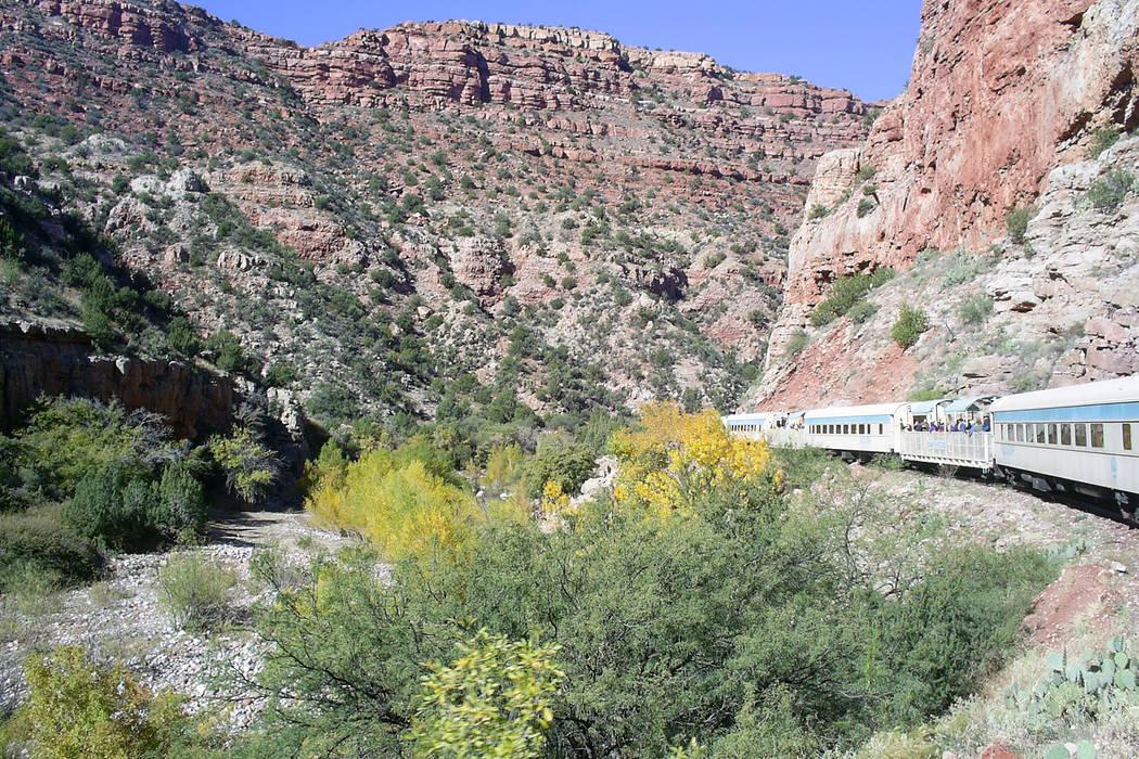Arizona's Verde Canyon Railroad offers a spectacular train ride through an extraordinarily beau ...