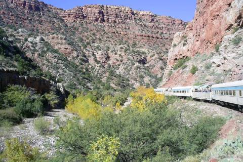 Arizona's Verde Canyon Railroad offers a spectacular train ride through an extraordinarily beau ...