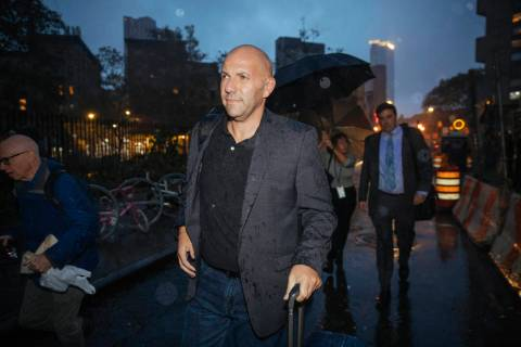 David Correia leaves Federal Court after his appearance on Wednesday, Oct. 16, 2019, in New Yor ...