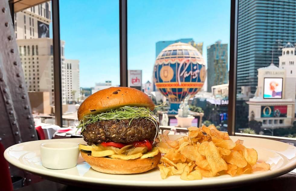 Eiffel Tower Restaurant Lamb burger. (Lindsay Widdel)