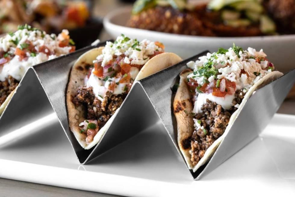 Lamb gyro tacos at Carson Kitchen. (Chris Wessling)