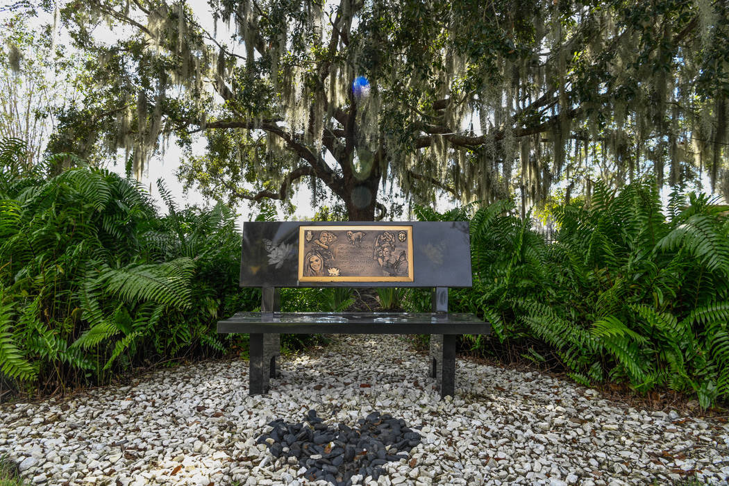 A memorial for Victoria at the Siegel family home in Windermere, Fla. on Oct. 17, 2019. The Sie ...