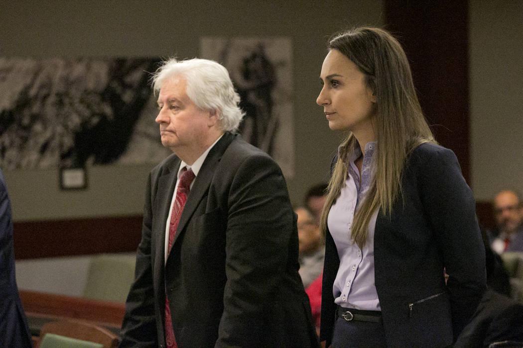 H. Stan Johnson, Esq., left, and Tara H. Popova, Esq., attorneys for Sam Aldabbagh owner of the ...