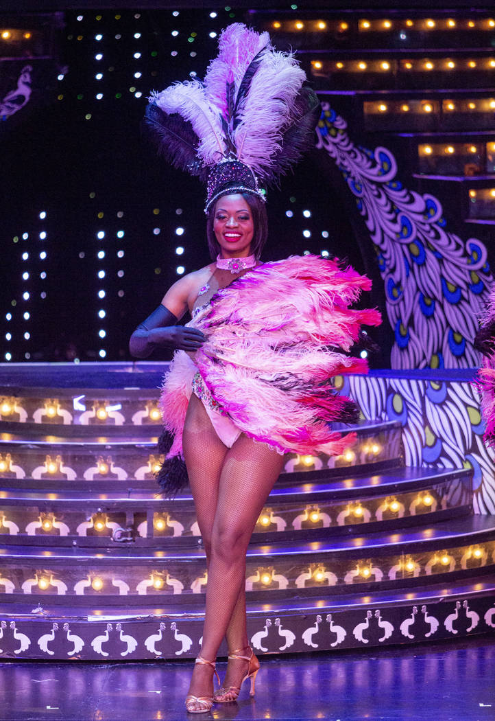 """""""Vegas! The Show"""" dancer Lauren Clark preforms at the Saxe Theater at the Miracle Mil ..."""