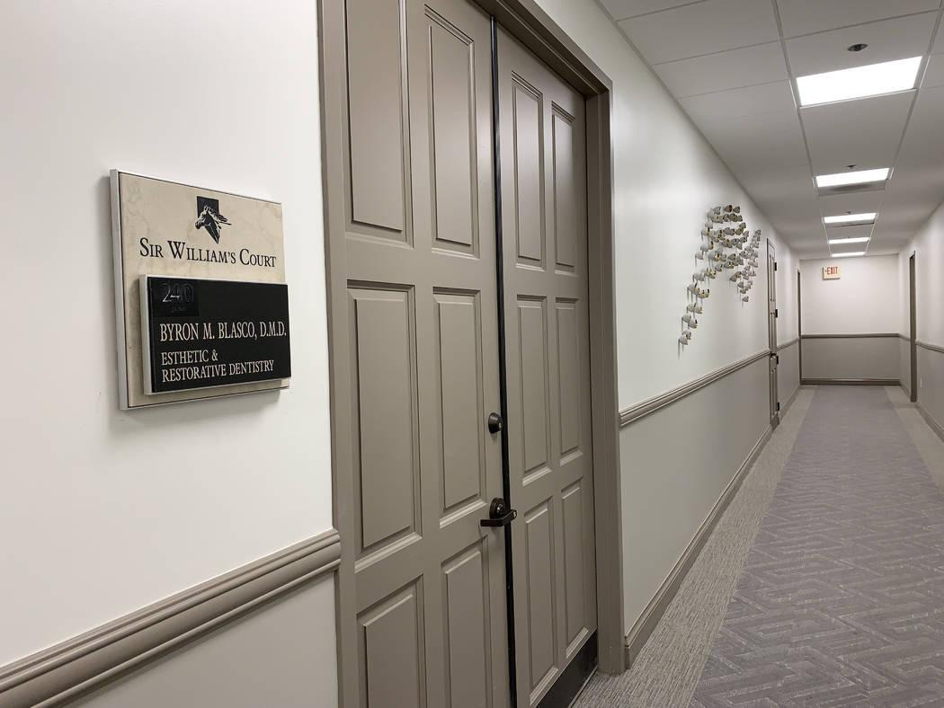 Dr. Blasco's office is seen at 851 South Rampart Boulevard in Las Vegas, Thursday, Sept. 12, 20 ...