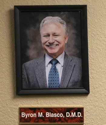A portrait of former president of Nevada State Board of Dental Examiners Dr. Byron Blasco. Blas ...