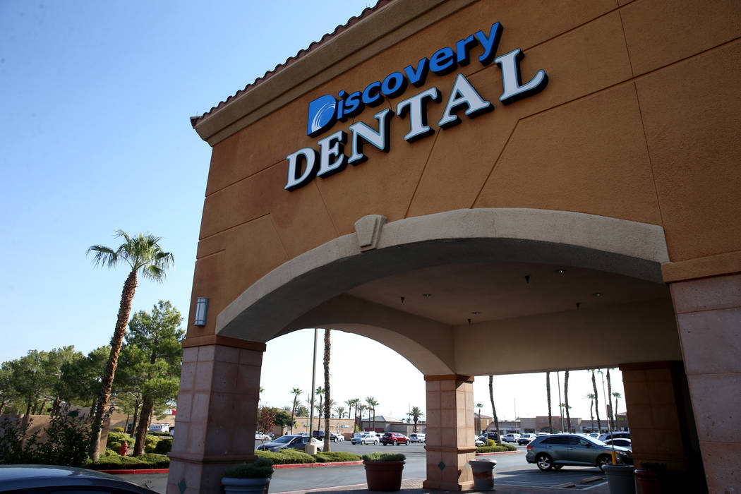 The dental offices of Dr. Adam Lousig-nont at 7581 W. Lake Mead Blvd. #160 in Las Vegas Monday, ...