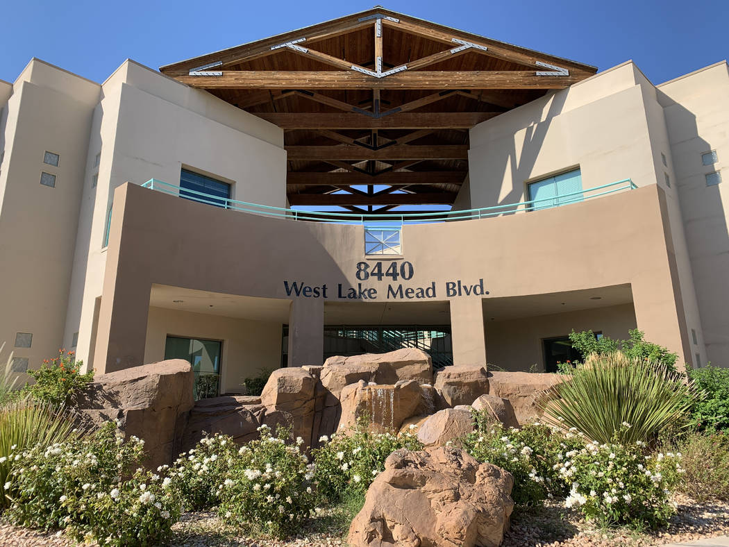 The building, where Trobough Dental has office, is seen at 8440 West Lake Mead Boulevard in Las ...