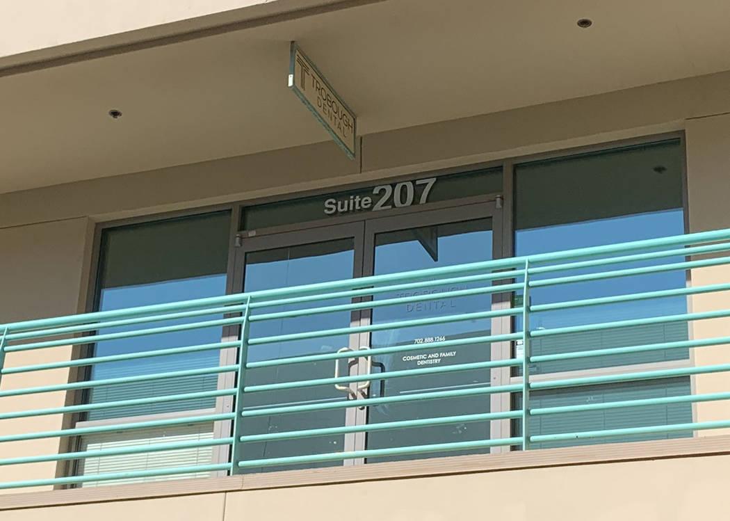 Trobough Dental's office, is seen at 8440 West Lake Mead Boulevard in Las Vegas, Thursday, Sept ...