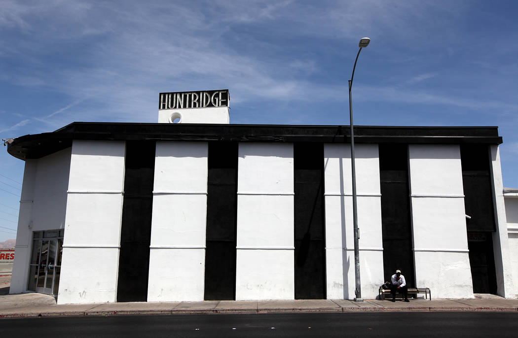 The Huntridge Theater in Las Vegas on Monday, May 19, 2014. The building and the sign were repa ...