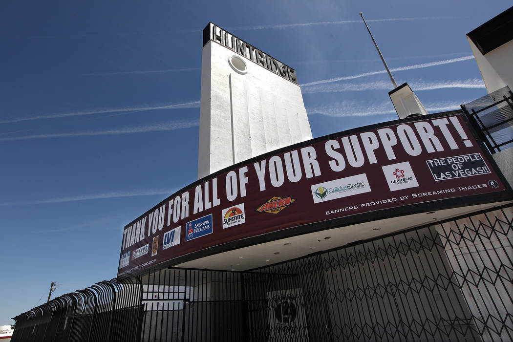 The Huntridge Theater in Las Vegas on Monday, May 19, 2014. (Justin Yurkanin/Las Vegas Review- ...