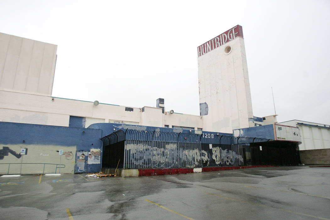 An exterior view of the Huntridge Theater located at 1208 E. Charleston Blvd. Wednesday Nov. 26 ...