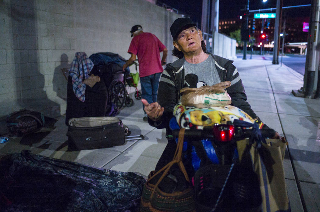 Kathleen Sutton talks about the struggles of living on the streets as she prepares to camp out ...
