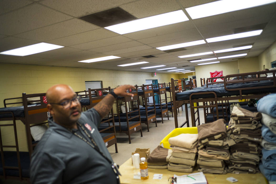 Jawan Mullen, homeless services liason at The Salvation Army, talks about the beds available fo ...