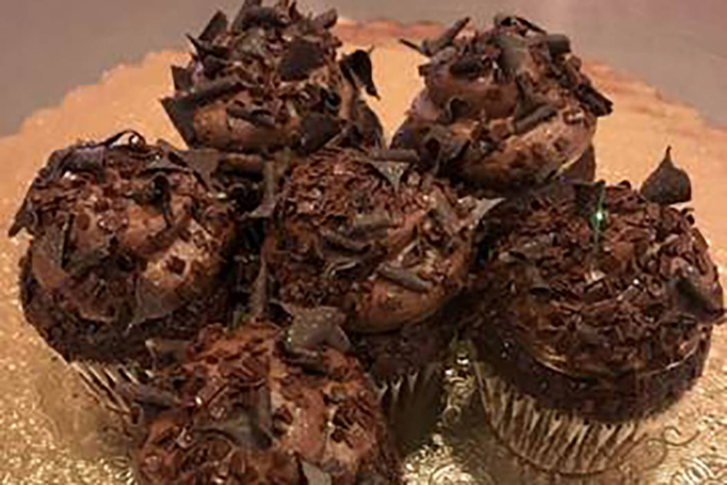 On National Chocolate Cupcake Day, which is Friday, Oct. 18, 2019, Caked Las Vegas at 7175 W. L ...