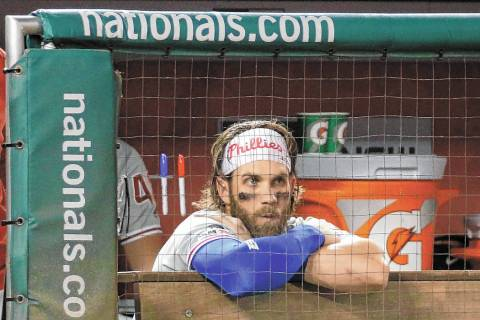 Philadelphia Phillies right fielder Bryce Harper. (AP Photo/Patrick Semansky)