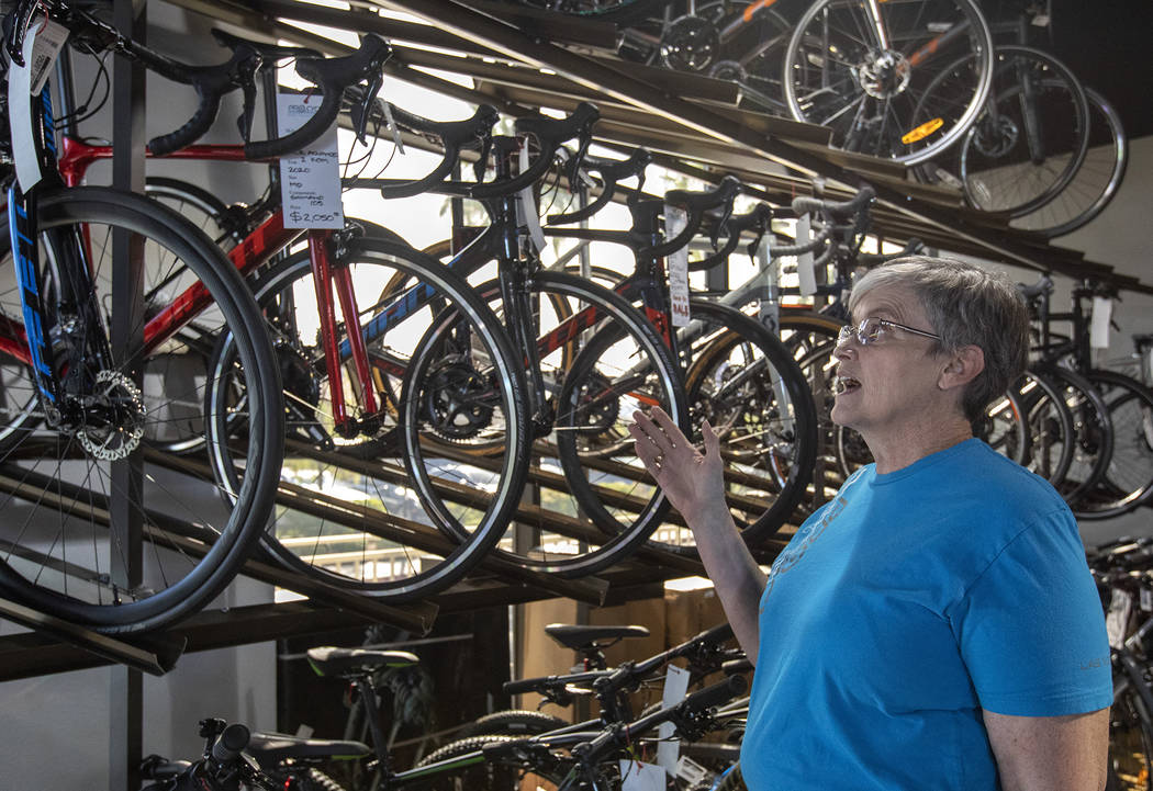 Pro Cyclery co-owner Cheri Tillman speaks about how import tariffs have affected the price of b ...