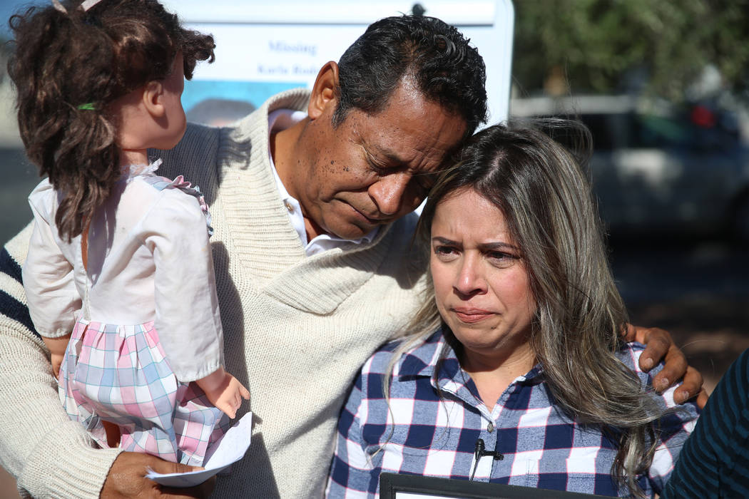 Rosy Rodriguez, right, and her father, Ramon, participate in a news conference regarding the di ...