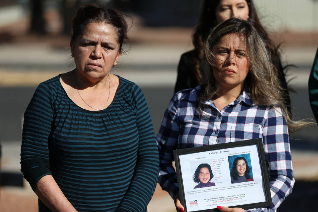 Elia Zepeda, left, and her daughter Rosy Rodriguez participate in a news conference regarding t ...