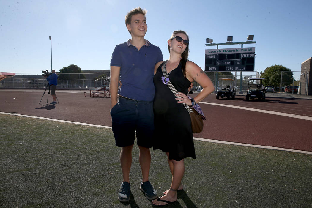 """""""Jeopardy!"""" champion and professional sports bettor James Holzhauer and his wife Meli ..."""