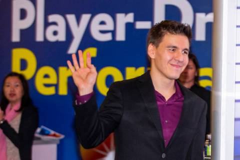 """Jeopardy!"" champion James Holzhauer arrives to play a few rounds for fun with IGT ex ..."