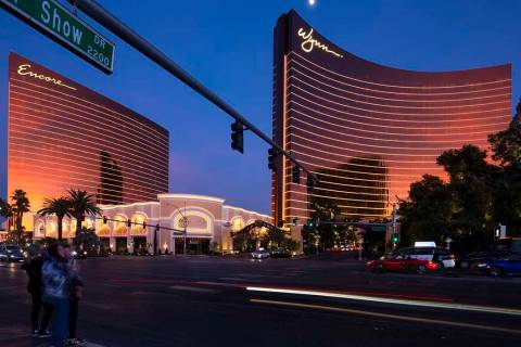 Encore, left, and Wynn Las Vegas on the Strip on Saturday, Jan. 27, 2018. Richard Brian Las Veg ...