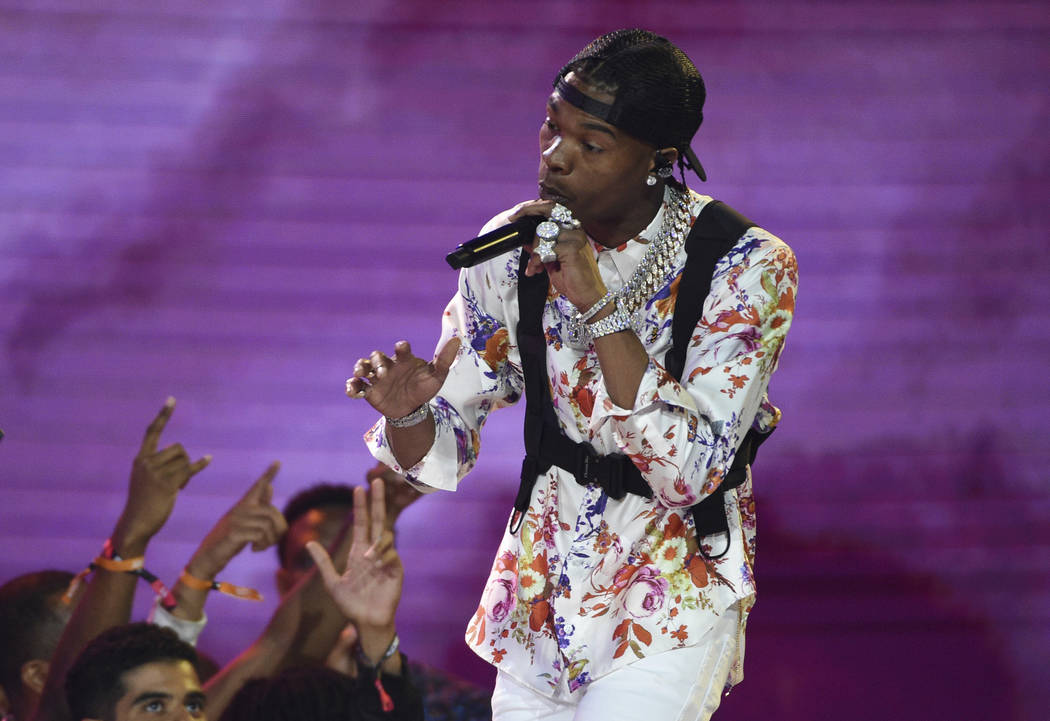 Lil Baby performs at the BET Awards on Sunday, June 23, 2019, at the Microsoft Theater in Los A ...